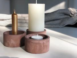 Kandelaar concrete bruin 3 in 1  |  Rustik Lys