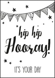 Kaart Hip Hip Hooray it`s your day | Jots
