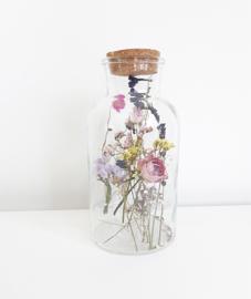 Glazen Jar met droogbloemen XL