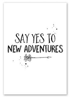 Kaart Say yes to new adventures   Jots