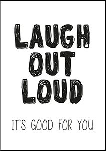 Kaart Laugh out Loud it`s good for you | Jots
