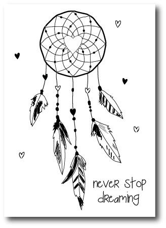 Kaart Never stop Dreaming | Jots
