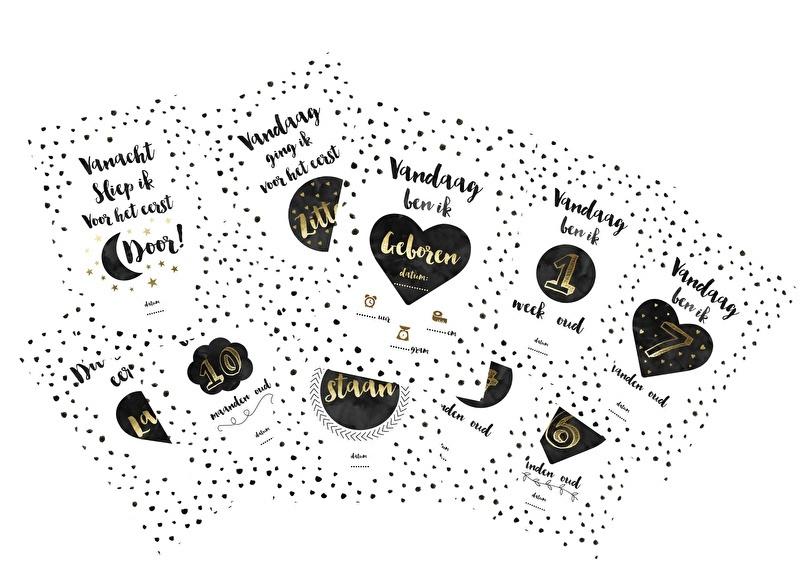Mijlpaal kaarten Baby  |  Huusje