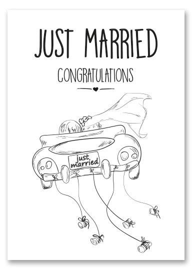 Kaart Just Married | Jots