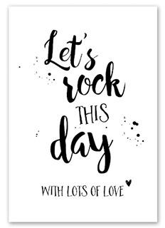 Kaart Let`s rock this day  | Jots