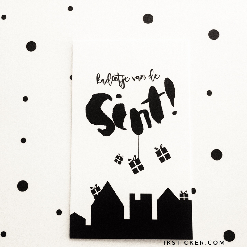 Kadootje van de Sint mini kaartje  |  Winkeltje van Anne