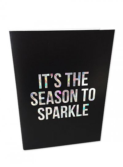 Kerstkaart Holographic It`s the season to sparkle    Studio Stationery
