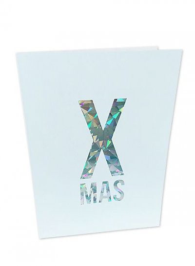 Kerstkaart Holographic X-Mas  |  Studio Stationery