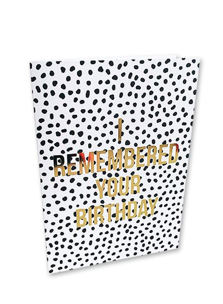Kaart I remembered your birthday   |  Studio Stationery