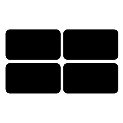 Krijtbordsticker Label rechthoek XL
