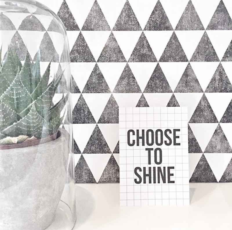 Kaart Choose to shine