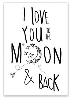 Kaart Love to the Moon | Jots