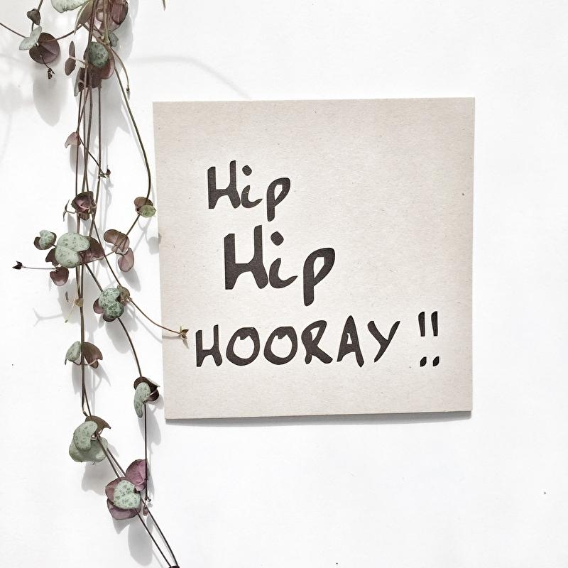 Kaart Hip Hip Hooray !!