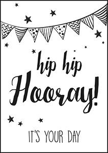Kaart Hip Hip Hooray it`s your day   Jots