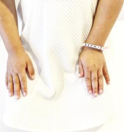 Elastic armbandje + gekleurd hartje