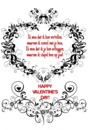 Valentijn 11x17 cm staand- Vak 112