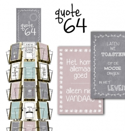 Quote 64 11x17cm hele serie incl. display, topkaart, backcards