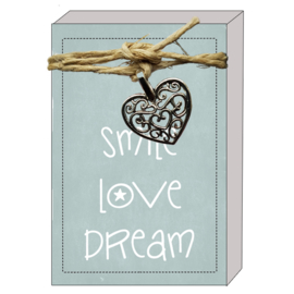 Doosje Quote64 103 - Smile Love Dream v.e 3