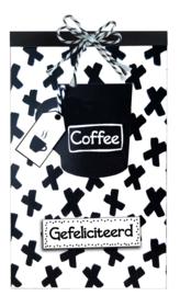Tasje Koffie en Merci - 105 Gefeliciteerd