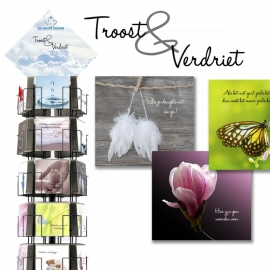 Troost & Verdriet 12x13,5 cm hele serie incl. display, topkaart, backcards
