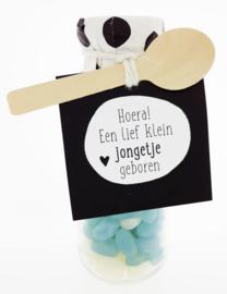 Snoepflesje 170 Hoera! een lief klein jongetje geboren v.e. 3