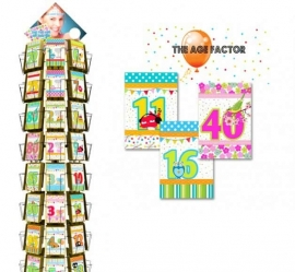 Age Factor hele serie incl. display, topkaart
