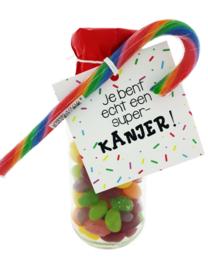 108 snoepflesje kinderen Je bent echt een superkanjer!