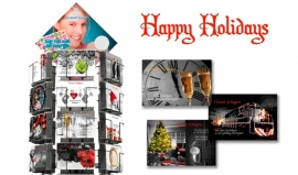 Happy Holidays hele serie incl. display, topkaart, backcards