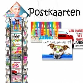 Postkaarten Fries hele serie incl. display, topkaart, backcards