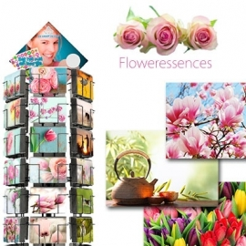Floweressences hele serie incl. display, topkaart, backcards