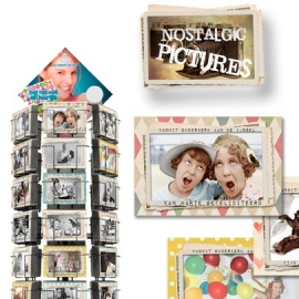 Nostalgic Pictures hele serie incl. display, topkaart, backcards