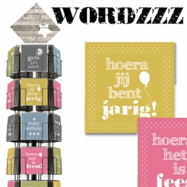 Wordzzz 15x15 cm hele serie incl. display, topkaart, backcards