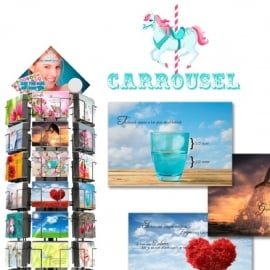 Carrousel hele serie incl. display, topkaart, backcards