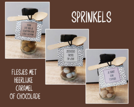Hele serie flesje chocolade Sprinkels 12 verschillende