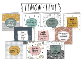 Lemon & Lime 15x15 cm hele serie incl. 40 vaks display, topkaart, backcards