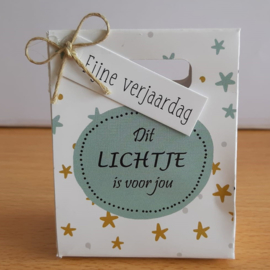 Kadotasjes 206 Een lichtje voor jou - fijne verjaardag