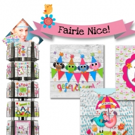 Fairie Nice 12x13,5 cm hele serie incl. display, topkaart, backcards