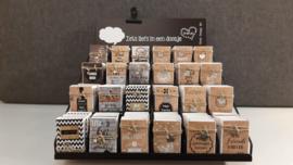 Complete display Stoere zeepdoosjes + topkaart