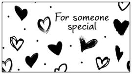 110 kadolabel 8,5 x 4,5 cm * For someone special * v.e 15 stuks