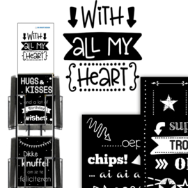 With all my Heart A4 formaat (Maxi) hele serie incl. display, topkaart, backcards