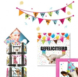 Twice as Nice hele serie incl. display, topkaart, backcards