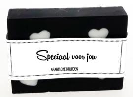 102 luxe zeep met hartjes 6x8 cm Arabische kruiden Speciaal voor jou v.e 3