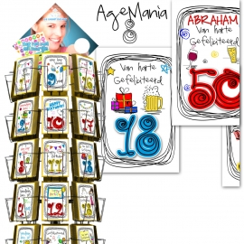 Age Mania 11x17cm hele serie incl. display, topkaart, backcards