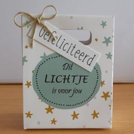 Kadotasjes 201 Een lichtje voor jou - gefeliciteerd