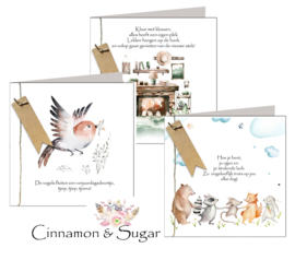 Cinnamon & Sugar 15x15 cm hele serie incl. 40 vaks display, topkaart, backcards
