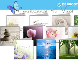 Condoleance & Troost 15x15 cm hele serie incl. display, topkaart, backcards