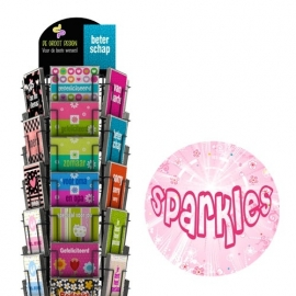 Sparkles hele serie incl. display, topkaart, backcards