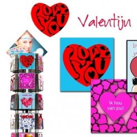 Valentijn 11x17 cm staand - hele serie excl. display