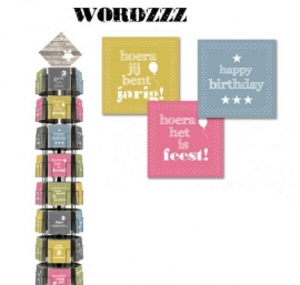 Wordzzz hele serie incl. display, topkaart, backcards