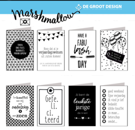 Marshmallow - hele serie van 63 nummers incl. display, topkaart, backcards